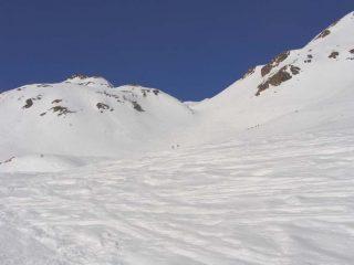 il canale sopra l'alpeggio