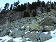 Pietraia quasi senza neve a quota 1840 m