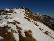 La cresta da Colle Carisey verso Rifugio Coda
