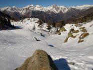Val del Bouro verso Nord-Ovest da Alpe Carisey