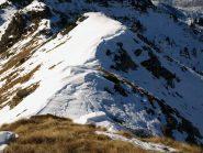 Cresta a Sud-Ovest verso Colle Carisey