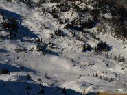 Alpe Carisey (in basso a destra) vista da Colle Carisey