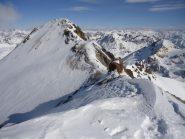 'ultimo tratto di cresta da percorrere verso il Tschima da Flix