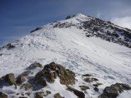 l'ampia cresta che porta al Piz d'Agnel