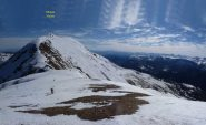 La cresta del Nebin scendendo dal Cugn di Goria alla Bassa dell'Aiet