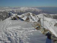 La cresta della normale scialpinistica.