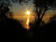 tramonto, scendendo da Gaixella