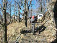 La mulattiera nei pressi della borgata Varda