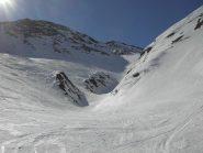 Gli scialpinisti passano piu' in alto.