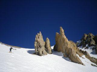 Pinnacoli appena sotto il colle Pissat