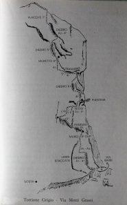 Lo schizzo della via fatto da G.P.Motti