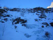 Passaggi esposti sulle cascate di ghiaccio...