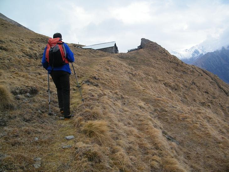 Arrivando all'Alpe Saler