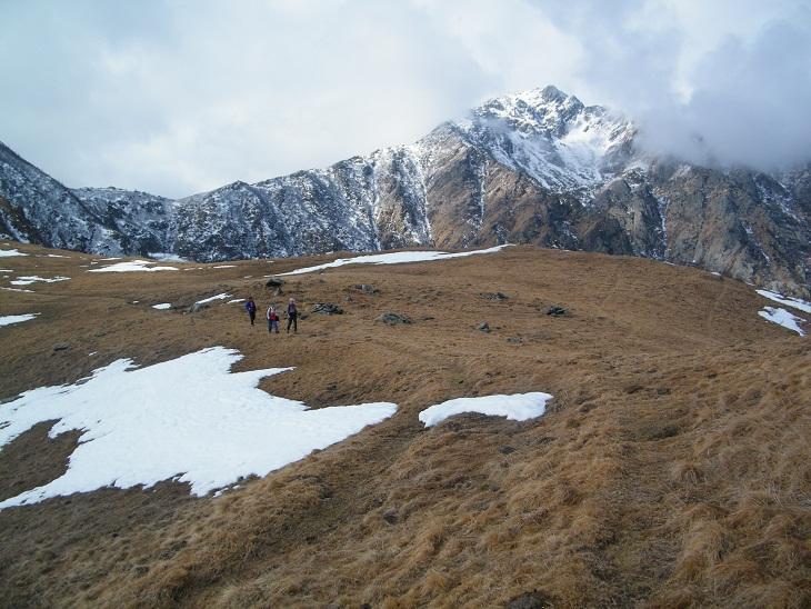 Poco dopo l'Alpe Sionei; sullo sfondo la Punta del Vallone