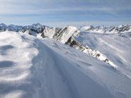 La cresta dell'Asgelas verso Colle della Balma