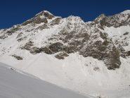 Monte Dela (3139 m), zona da cui ho sentito uno scaricamento