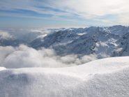 Panorama verso Ovest verso Val Soana da Punta Asgelas