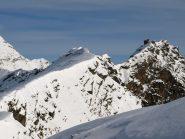 La cima dell'Asgelas (3021 m) vista dalla cresta dove mi sono fermato