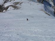 Matte scia verso il colle dello Chaberton