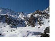Il vallone di Rodoretto con la P.Acuta al centro.