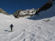 salendo verso il ghiacciaio