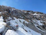 La scala e la funivia per il trenino di Montenvers