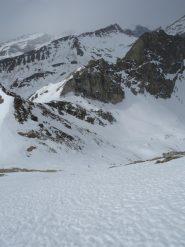 Quasi in cima (io! :-)) al Chersogno, il canale che sale al colle