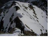Il tratto finale antistante la vetta (versione invernale)