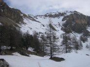 ripiano Fond Froid con vista sul versante di salita al Pic de Peyre Eyraute