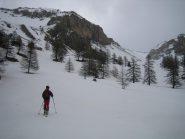 quota 2200 m. circa: sulla sinistra il pendio per il Pic de Peyre Eyraute