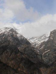 04 - Dal Rocciamelone (In alto a sx) al fondo all'orrido (Basso a dx) ci sono 2500mt di dislivello...