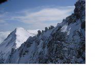 Il Platasse dalla cresta nord delle Rocce del Rouit
