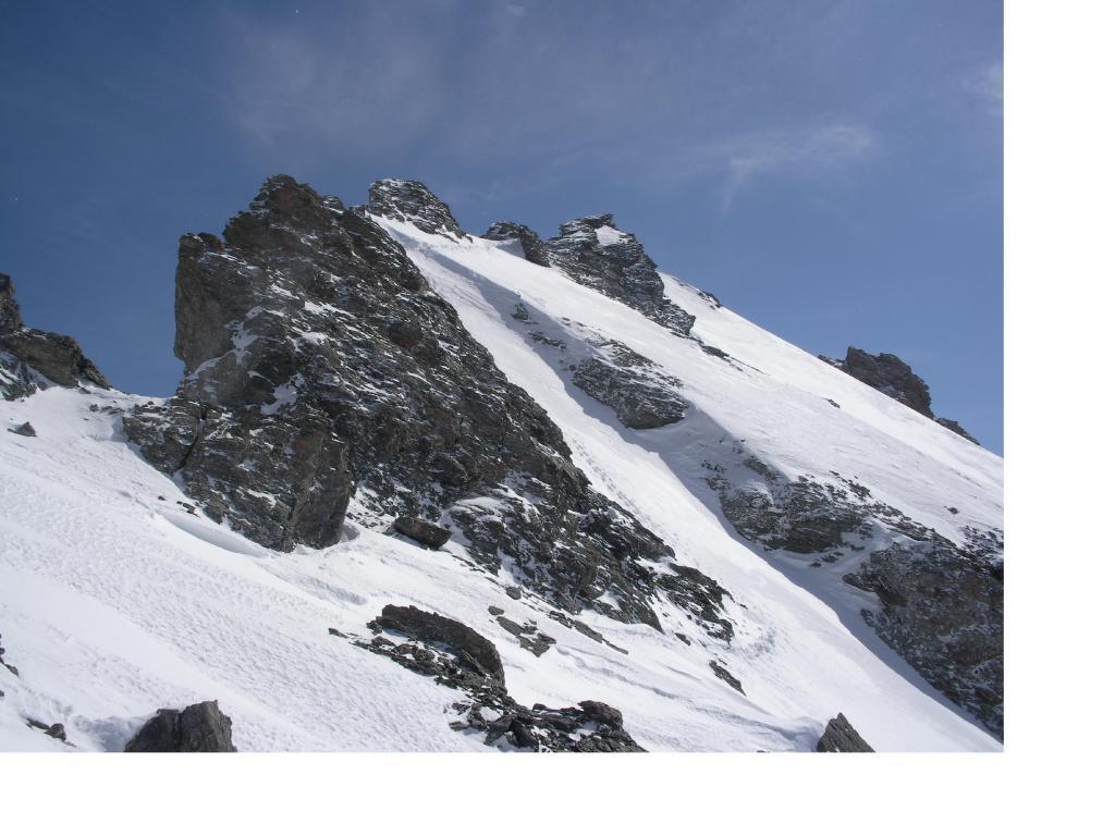 La cresta nord del Rouit  dal colletto 3051