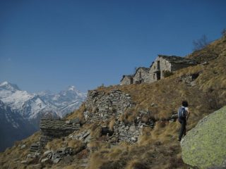 Arrivando all'Alpe Le Combe