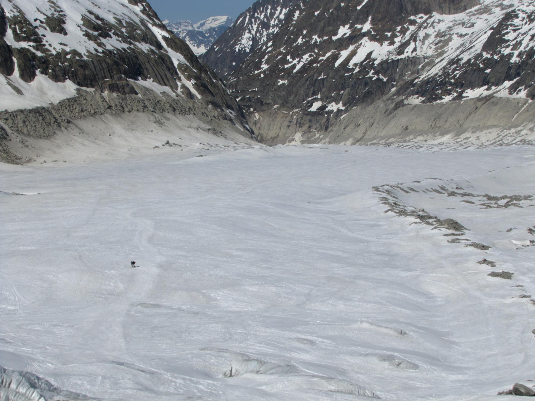 la parte piatta della Mer de glace
