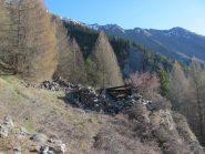 ruderi dell'alpeggio Bois de Bou