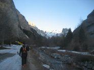 monte Thabor (centro foto) alla partenza