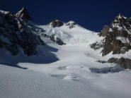 Ghiacciaio du Casset - la discesa dalla cima .