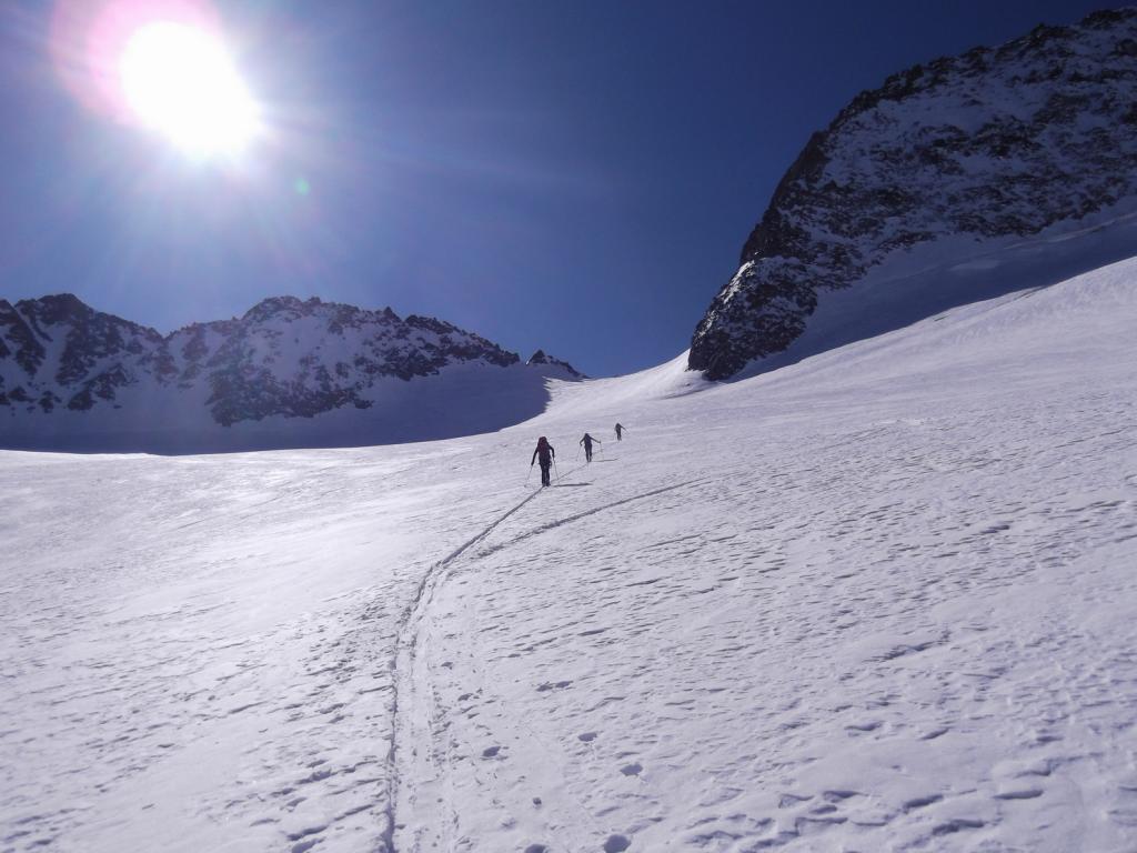Agneaux (Montagne des), Cima NOtraversata Prè de Madame Carle - Monetier-Les-Bains per versante SO e col Casset 2012-04-01