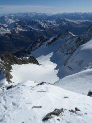 Glacier du Casset da scendere