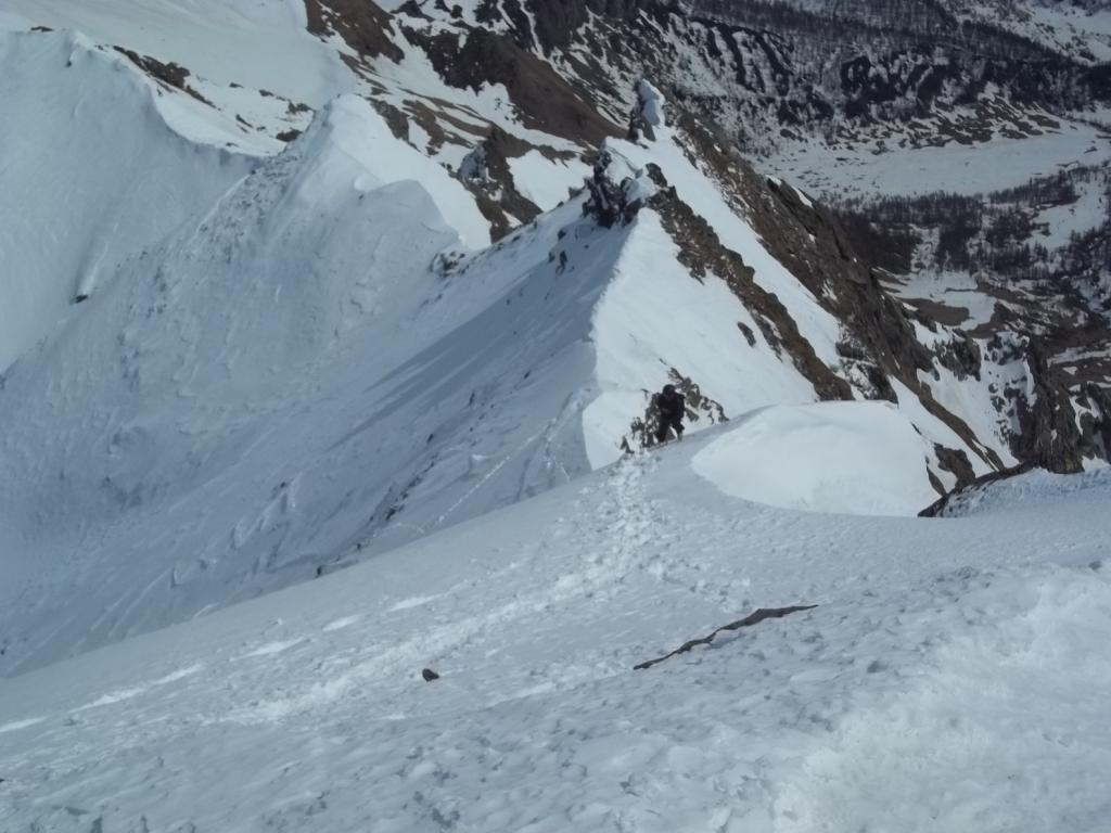 Aurona (punta d') o Furggubaumhorn per il Canale dx del versante NO 2012-04-01