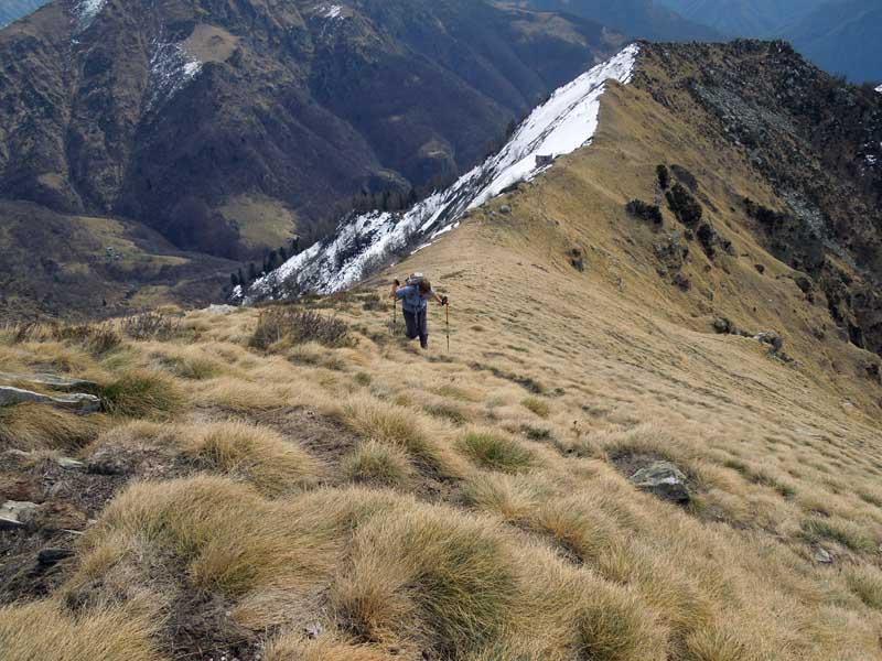 ultimi metri con la cresta percorsa