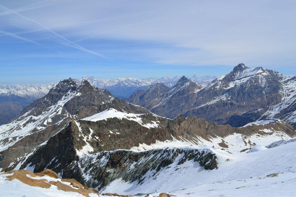 panorama dall'anticima (3397 m)