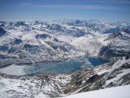 notevole panorama sul lago del Moncenisio