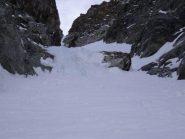 strettoia con ghiaccio
