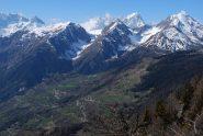 La collina di La Salle, con i valloni di Liconi e Chambave e i colli Liconi e Battaglione Aosta.