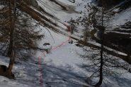 Il traverso sulla neve da Liconi