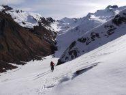 gli sci vanno nella direzione opposta alla Losetta...