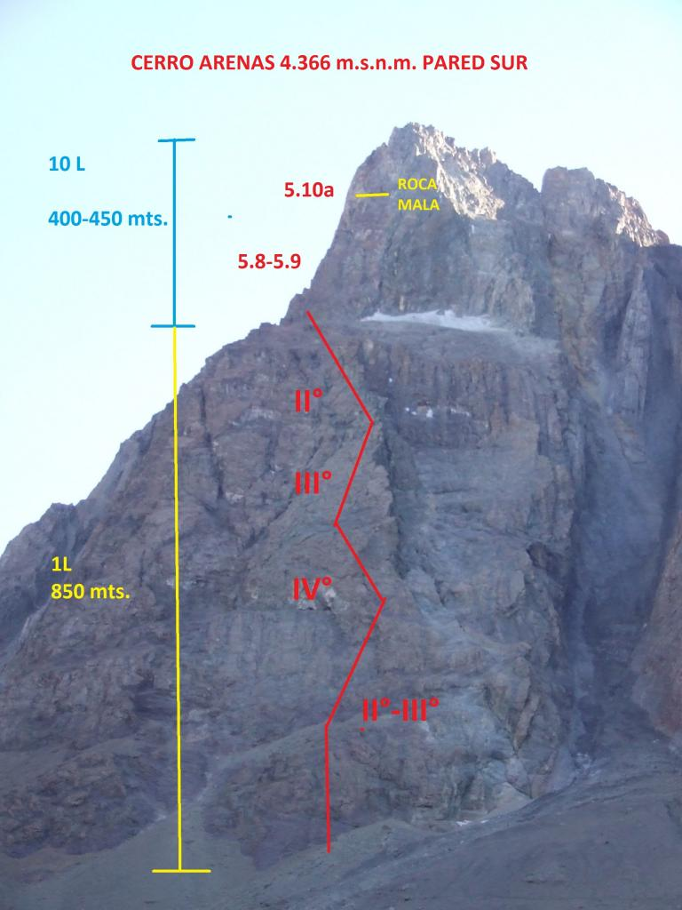Arenas (Cerro) Parete Sud, espolone SO 2012-04-12