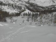 Il valloncello sopra Prato Ciorliero.
